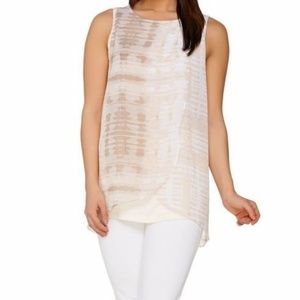 H by Halston Sleeveless Knit Top with Printed